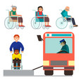 disabled handicapped diverse people vector image