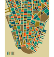 New York colorful city plan vector image