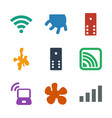 9 spot icons vector image vector image