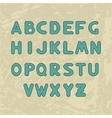 Alphabet with letters round shape with a stroke vector image vector image