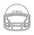 american footbal helmet equipment protection vector image vector image