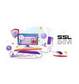 banner ssl certificate for website vector image