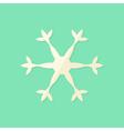 Big Christmas Snowflake Flat Icon vector image vector image
