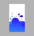 blue dynamic abstract fluid social media vector image