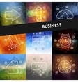business timeline infographics with blurred vector image