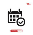 calendar and approved icon vector image