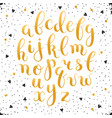 Calligraphic letters set