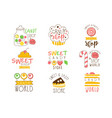 Candy shop promo signs series of colorful