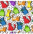 Cartoon seamless colorful cats vector image vector image