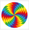 Circle of abstract psychedelic rainbow vector image