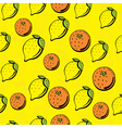 citrus pattern vector image vector image