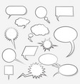 comic cloud conversations vector image