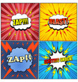 comic electric backgrounds set vector image vector image