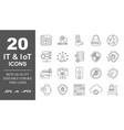 computer network icons it iot ai networking vector image