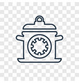 cooking time concept linear icon isolated on vector image