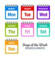days week vector image