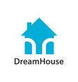 dream house logo concept design light blue color vector image vector image