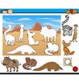 educational task for preschool kids vector image vector image