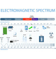 Electromagnetic spectrum vector image vector image