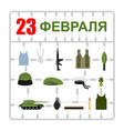 february 23 plastic model kits military symbols vector image vector image
