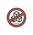 forbidden sign with a sugar no sweets flat color vector image