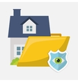 home security policy insurance vector image