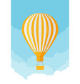 hot air balloon planning summer vacations tourism vector image vector image