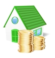 House with coins vector image