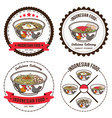 indonesian food set of badges design templates vector image vector image