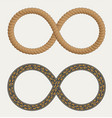 infinity symbol in form rope and roads vector image vector image