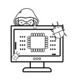 isolated security system design vector image vector image