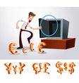 luring money vector image vector image