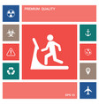 man on treadmill icon elements for your design vector image