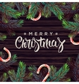 merry christmas greeting card with decor vector image vector image