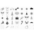 minimal christmas icons vector image