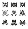 monogram ave maria symbols set religious