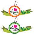 Organic food label set vector image vector image