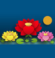 paper flower lotus nature for your vector image