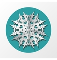 Paper snowflake origami icon Christmas New Year vector image vector image