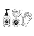 protection items set vector image vector image
