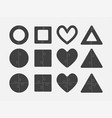 puzzle shape circle square heart triangle vector image