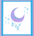 Ramadan greeting card with moon vector image vector image