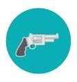 Revolver pistol icon flat vector image