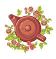rose tea vector image