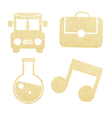 School Paper and Education Icons vector image