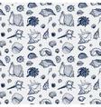 Seamless pattern of Sea shells vector image vector image
