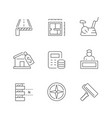 set line icons real estate vector image vector image