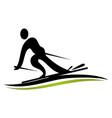 ski logo design template vector image