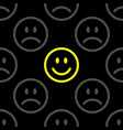 smile icon pattern happy and sad faces vector image vector image