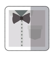 sticker close up formal shirt with bow tie vector image vector image